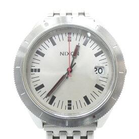【中古】NIXON/ニクソン 腕時計 ROVER クォーツ ステンレススティールベルト サイズ:- カラー:シルバー(文字盤)×シルバー(ベルト)【f131】