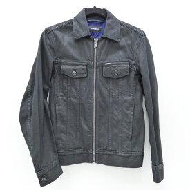 【中古】DIESEL/ディーゼル D-JAR JACKET コーティングデニムジャケット サイズ:S カラー:ブラック / インポート【f094】