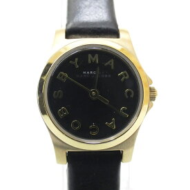 【中古】MARC BY MARC JACOBS/マークバイマークジェイコブス 腕時計 MBM1240 クォーツ レザーベルト サイズ:- カラー:ブラック(文字盤)×ブラック(ベルト)【f131】