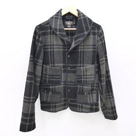 【中古】RRL/ダブルアールエル WOOL CHECK MACKINAW JACKETウールジャケット サイズ:S カラー:ブラック系 / アメカジ【f093】