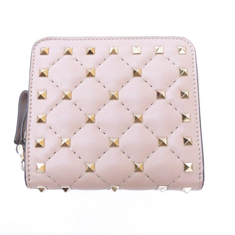 【中古】VALENTINO/バレンティノ/バレンチノ 二つ折り財布 サイズ:- カラー:ピンク【f125】
