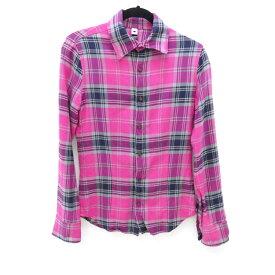 【中古】wjk/ダヴルジェイケイ ワイヤーチェックシャツ/shadow check wire shirts/2013AW サイズ:S カラー:ピンク / ドメス【f104】