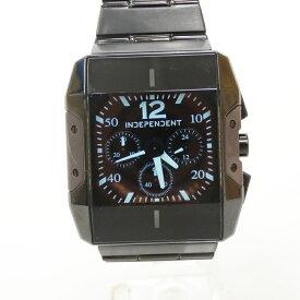 【中古】INDEPENDENT/インディペンデント 腕時計 クォーツ サイズ:- カラー:ブラック(文字盤)×ブラック(ベルト)【f131】