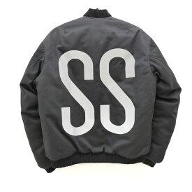 【中古】ASSK/エーエスエスケー ボンバージャケット サイズ:M カラー:ブラック / ストリート【f095】