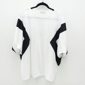 【中古】Iroquois/イロコイ 2018S/S T/R TRACK CUT&SEWビッグシルエット Tee Tシャツ サイズ:2 カラー:ホワイト【f104】