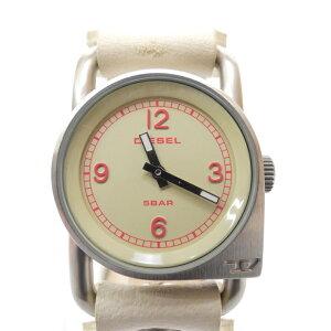 【中古】DIESEL/ディーゼル 腕時計 DZ2114 クォーツ レザーベルト サイズ:- カラー:アイボリー系(文字盤)×アイボリー系(ベルト)【f131】