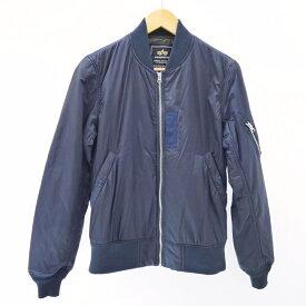 【中古】ALPHA/アルファ ブルゾン/MA-1 フライトジャケット サイズ:L カラー:ネイビー / アメカジ【f093】