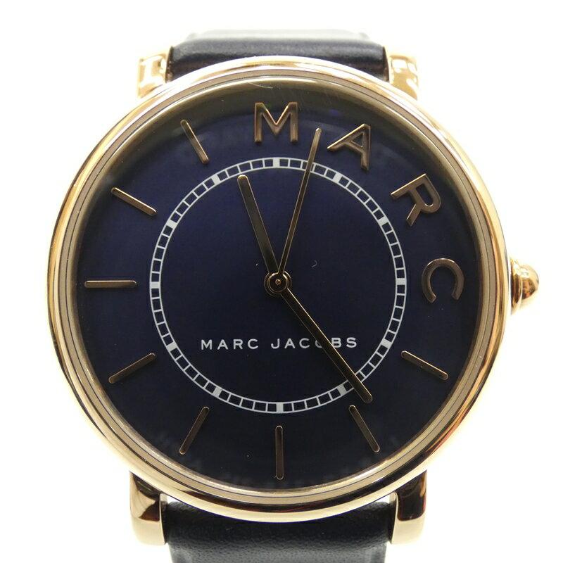 【中古】MARC JACOBS/マーク ジェイコブス 腕時計/クォーツ/レザーベルト/MJ1534 サイズ:- カラー:ネイビー(文字盤)×ネイビー(ベルト)【f131】