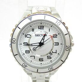 【中古】SECTOR/セクター 腕時計 アナログ クォーツ ステンレススティールベルト サイズ:- カラー:ホワイト(文字盤)シルバー(ベルト)【f131】