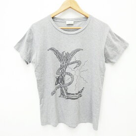 【中古】Saint Laurent/サンローラン S/S Tシャツ サイズ:XS カラー:グレー【f135】