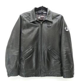 【中古】HYSTERIC GLAMOUR/ヒステリックグラマー レザージャケット/2012年モデル サイズ:M カラー:ブラック / ドメス【f096】