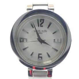 【中古】MICHEL KLEIN/ミッシェルクラン 腕時計 アナログ クォーツ ステンレススティールベルト サイズ:- カラー:ホワイト(文字盤)シルバー(ベルト)【f131】