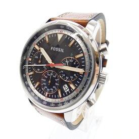 【新古品/未使用品品】FOSSIL/フォッシル 腕時計 FS5414 クォーツ アナログ レザーベルト サイズ:- カラー:ネイビー(文字盤)ブラウン(ベルト)【f130】