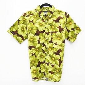 【中古】NEPENTHES NY/ネペンテス 総柄半袖シャツ サイズ:S カラー:グリーン系 / セレクト【f099】