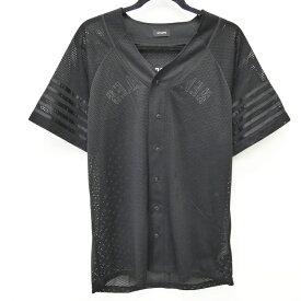 【中古】STAMPD/スタンプド ベースボールシャツ サイズ:L カラー:ブラック / インポート【f102】