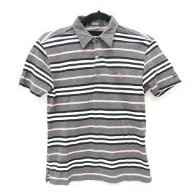【中古】BURBERRY BLACK LABEL/バーバリーブラックレーベル 半袖ポロシャツ サイズ:1 カラー:グレー系 / インポート【f112】