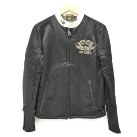 【中古】VANSON/バンソン ジャージーライダースジャケット サイズ:M カラー:ブラック / アメカジ【f093】