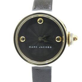 【中古】MARC JACOBS/マークジェイコブス 腕時計 MJ1432 アナログ クォーツ レザーベルト サイズ:- カラー:ブラック(文字盤)ブラック(ベルト)【f131】