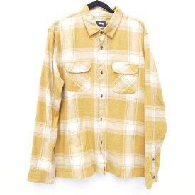 【中古】STUSSY/ステューシー 長袖シャツ サイズ:XL カラー:イエロー系 / ストリート【f103】