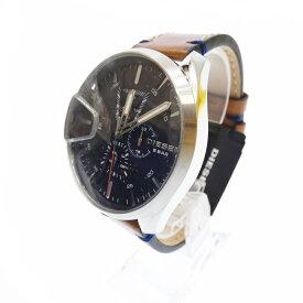 【新古品・未使用品】DIESEL/ディーゼル 腕時計 DZ4470 アナログ クォーツ レザーベルト サイズ:- カラー:ブラック(文字盤)ブラウン(ベルト)【f130】
