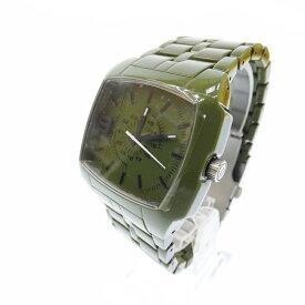 【新古品・未使用品】DIESEL/ディーゼル 腕時計 DZ1550 アナログ クォーツ サイズ:- カラー:グリーン(文字盤)グリーン(ベルト)【f130】