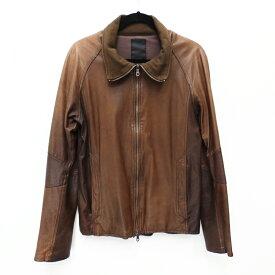 【中古】shama/シャマ レザージャケット サイズ:40 カラー:ブラウン / ドメス【f096】