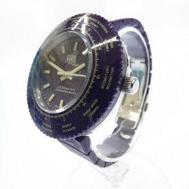 【中古】FHB/エフエイチビー 腕時計 アナログ クォーツ ラバーベルト サイズ:- カラー:パープル(文字盤)パープル(ベルト)【f131】