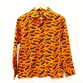【中古】Dry Bones/ドライボーンズ BATオープンカラーシャツ 長袖シャツ サイズ:38 カラー:オレンジ / アメカジ【f101】
