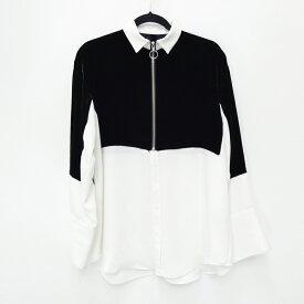 【中古】G.V.G.V./ジーヴィージーヴィー シャツ ブラウス サイズ:34 カラー:ブラック×ホワイト / カジュアル【f111】