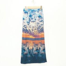 【中古】Ameri VINTAGE/アメリビンテージ SUNRISE COCOON PLEATS SKIRT ロングスカート サイズ:F カラー:ブルー系【f112】