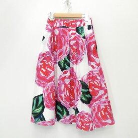 【中古】Ameri VINTAGE/アメリビンテージ 総柄 ロングスカート サイズ:F カラー:ピンク系【f112】