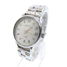 【中古】MARC BY MARC JACOBS/マークバイマークジェイコブス 腕時計 MBM3246 アナログ クォーツ レザーベルト サイズ:- カラー:ホワイト(文字盤)シルバー(ベルト)【f131】