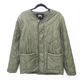 【中古】STUSSY/ステューシー Quilted Military 16FW キルティングジャケット サイズ:S カラー:カーキ / ストリート【f095】