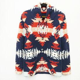 【中古】STANDARD CALIFORNIA/スタンダードカリフォルニア SD Hand Knitted Cardigan 総柄カーディガン サイズ:M カラー:マルチカラー / アメカジ【f093】