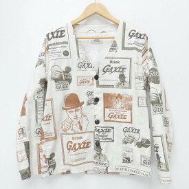 【中古】GANGSTERVILLE /ギャングスタ-ビル シャツ長袖/Gaxie Shirts サイズ:S カラー:ホワイト / ルード【f104】
