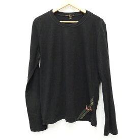 【中古】LOUIS VUITTON/ルイ・ヴィトン L/S Tシャツ サイズ:L カラー:ブラック【f135】