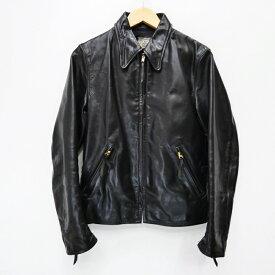 【中古】McCOY'S/マッコイズ レザージャケット/STEEPLECHASE HORSEHIDE TRACKER/ニュージーランド製 サイズ:38 カラー:ブラック / アメカジ【f093】