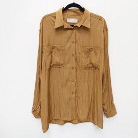 【中古】TODAYFUL/トゥデイフル Satin Jacquard Shirts 2019年モデル ブラウス サイズ:F カラー:ブラウン系 / Vivi系【f112】