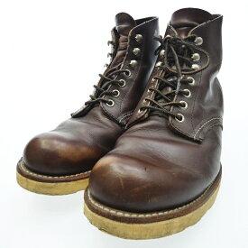 【中古】RED WING/レッドウイング 8134 プレーントゥ ブーツ サイズ:26.5cm カラー:ブラウン【f127】