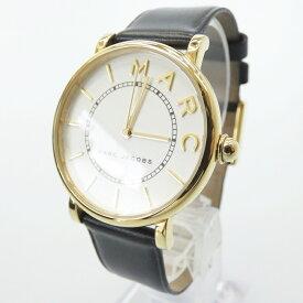 【中古】MARC JACOBS/マークジェイコブス 腕時計/クォーツ/レザーベルト/MJ1532 サイズ:- カラー:ホワイト(文字盤)×ブラック(ベルト)【f131】