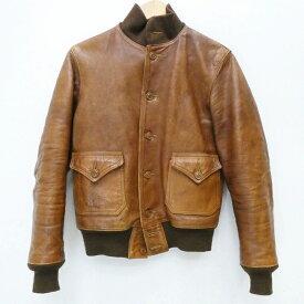 【中古】FREEWHEELERS/フリーホイーラーズ フライトジャケット/LeatherTogsMFG.Co./TYPE:A-1 サイズ:36 カラー:ブラウン / アメカジ【f093】