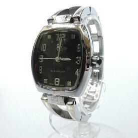 【中古】GIVENCHY/ジバンシィ 腕時計/クォーツ/ステンレススティール サイズ:- カラー:ブラック(文字盤)×シルバー(ベルト)【f131】