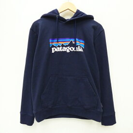 【中古】Patagonia パタゴニア 39539 19年 Men's P-6 Logo Uprisal Hoody プルオーバーパーカー サイズ:S カラー:ネイビー / アウトドア【f100】