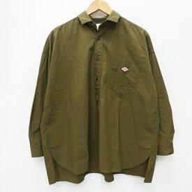 【中古】DANTON ダントン 18A-WS-001 タイプライターオーバーサイズシャツジャケット  シャツ長袖 サイズ:36 カラー:カーキグリーン / インポート【f102】