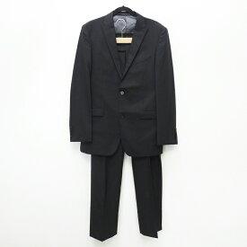 【中古】BURBERRY BLACK LABEL バーバリーブラックレーベル BMD58-816-09] '2B' x SUPER 100'S セットアップ サイズ:42L カラー:ブラック / インポート【f094】