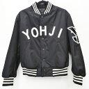 【中古】Y-3 ワイスリー ボンバージャケット YOHJIロゴ スタジャン サイズ:XXS カラー:ブラック【f111】
