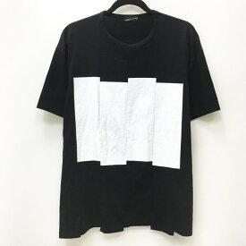 【中古】LAD MUSICIAN ラッドミュージシャン Tシャツ半袖 サイズ:42 カラー:ブラック 2116-704 19年 BIG T-SHIRT PERMANENT ROCKER【f104】