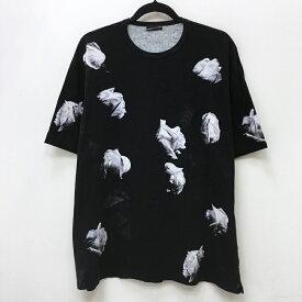 【中古】LAD MUSICIAN ラッドミュージシャン Tシャツ半袖 サイズ:44 カラー:ブラック 18SS 2218-712 model:T-CLOTH FLOWER BIG T-SHIRT / ドメス【f104】