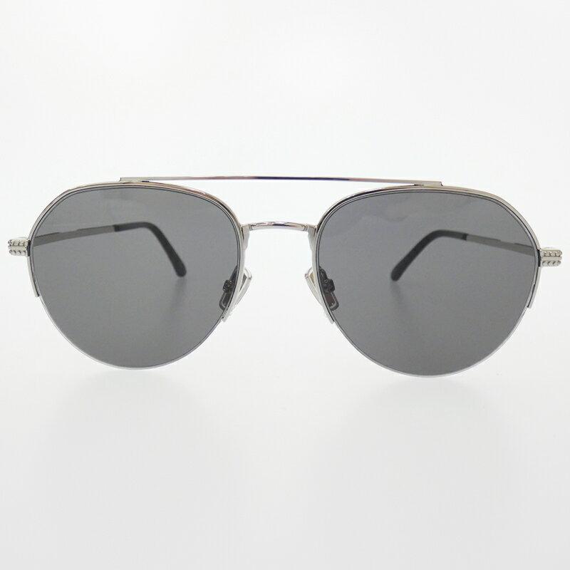 【中古】JIMMY CHOO/ジミーチュウ サングラス サイズ:- カラー:シルバー(フレーム)ブラック(レンズ)【f135】