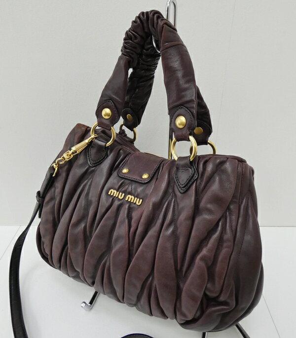 【中古】miu miu/ミュウミュウ マテラッセ 2Wayハンドバッグ ショルダーバッグ